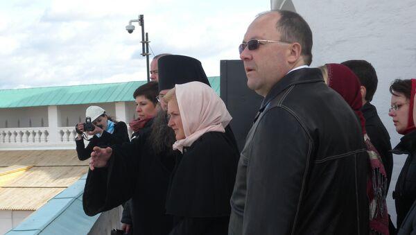 Ольга Голодец и Олег Сафонов в ходе рабочей поездки в Новый Иерусалим (Истра, Московская область)