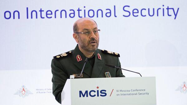 Министр обороны Ирана Хоссейн Декган выступает на IV Московской конференции по международной безопасности