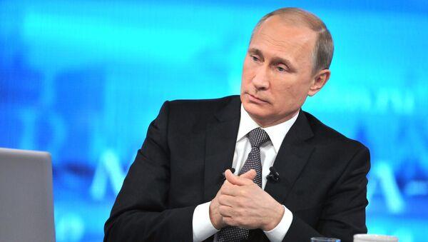 Президент России Владимиром Путин. Архивное фото
