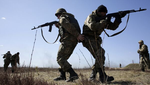 Украинские военные принимают участие в учениях под Киевом