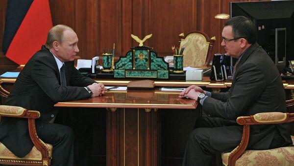 Президент России В.Путин провел встречу c министром сельского хозяйства РФ Н.Федоровым