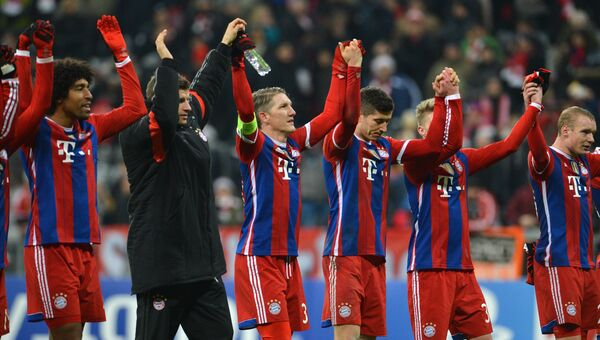 Игроки Баварии после матча Лиги чемпионов. Архивное фото