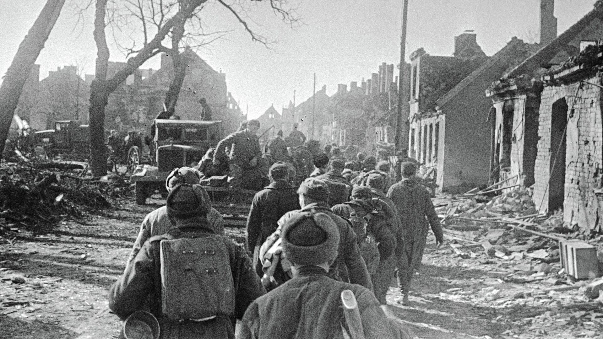 По восточной Пруссии идут советские части - РИА Новости, 1920, 19.04.2021