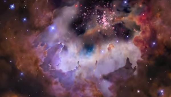 Туманность Гама сквозь телескоп