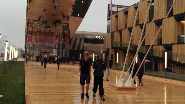Российский павильон на выставке Expo-2015 в Милане.