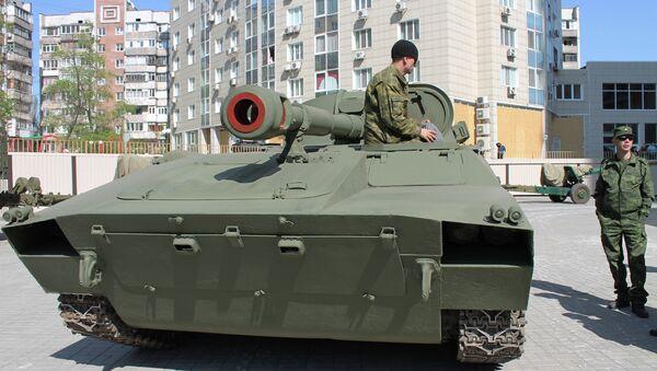 Подготовка к Параду Победы в Донецке