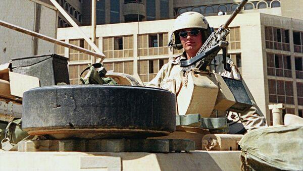 Американские танки в центре Багдада. Архивное фото.