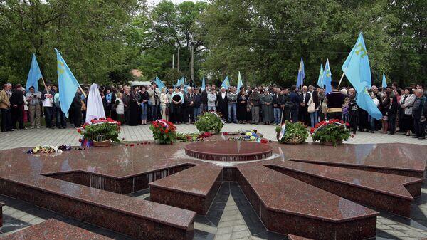 Мероприятия, посвященные 70-й годовщине депортации крымских татар. Архивное фото