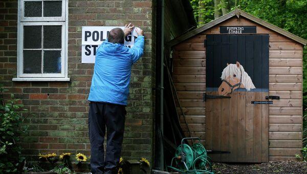 Избирательный участок в Северной Англии