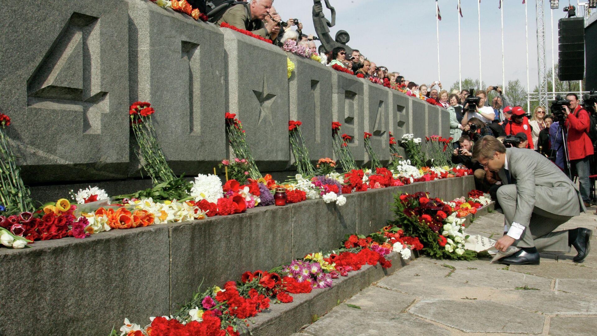 Мероприятия в честь Дня Победы в Риге. Архивное фото - РИА Новости, 1920, 05.05.2021