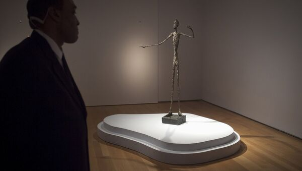 Скульптура Альберто Джакометти Указующий человек (Pointing Man)