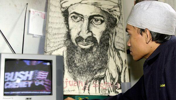 Портрет Усама бен Ладена. Архивное фото