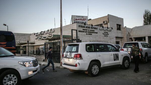 Работа экспертов ООН по химическому оружию в Сирии. Архивное фото