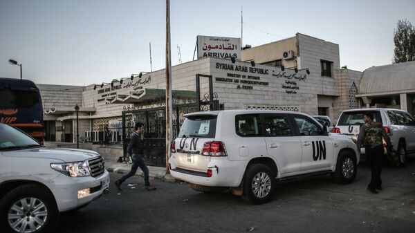 Эксперты по химическому оружию в Сирии. Архивное фото