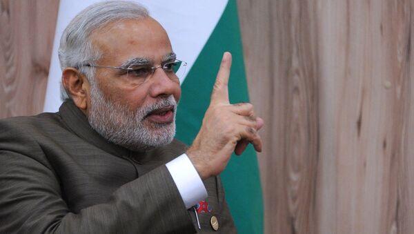 Премьер-министр Индии Нарендра Моди в городе Форталеза