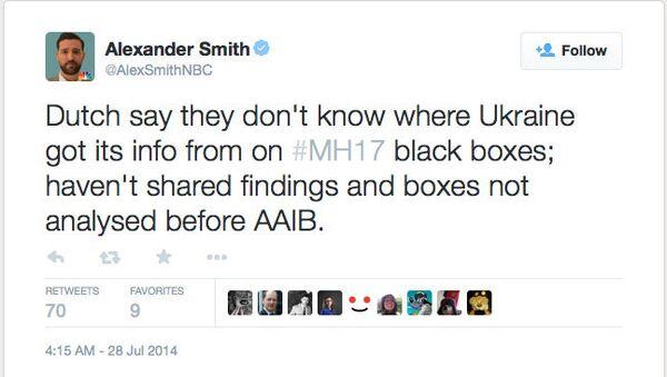 Скриншот пользователя Alexander Smith в Twitter