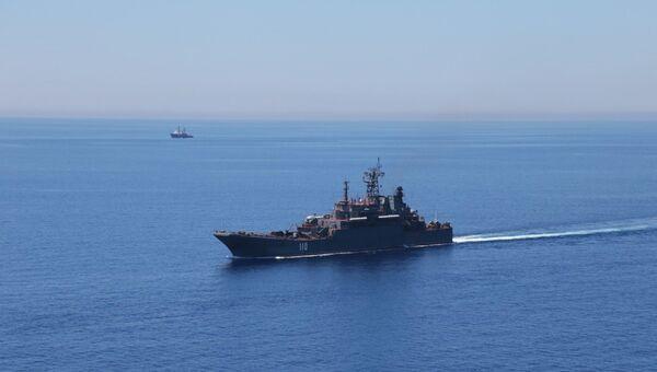 Большой десантный корабль. архивное фото