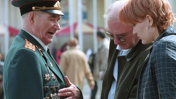 Ветераны Великой Отечественной войны в День Победы. Архивное фото