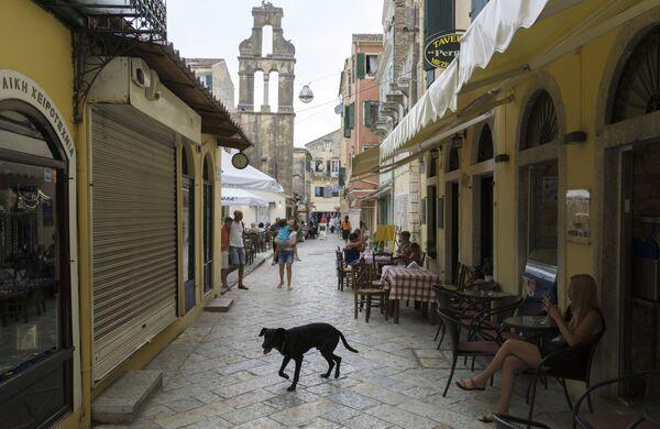 Исторический центр города Керкиры на греческом острове Корфу