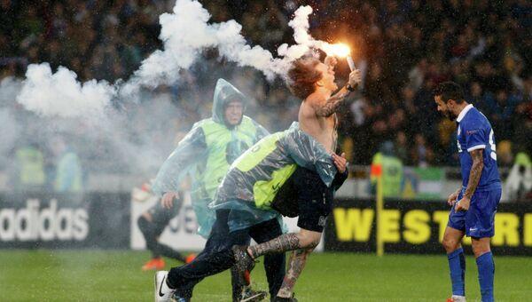 Беспорядки после матча полуфинала Лиги Европы Днепр - Наполи, 14 мая 2015 года
