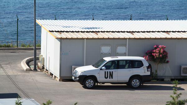 Штатная машина сотрудников миссии ООН в южном Ливане
