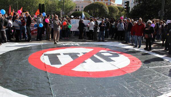 Акции протеста против соглашений о трансатлантической торговле в Европе. Архивное фото