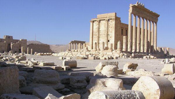 Развалины древнего города Пальмира, архивное фото