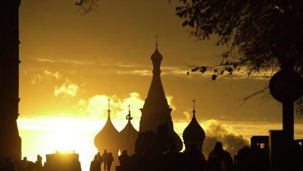 Вид на Собор Василия Блаженного на Красной площади. Архивное фото