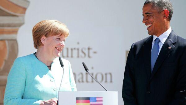 Ангела Меркель и Барак Обама в Крюне