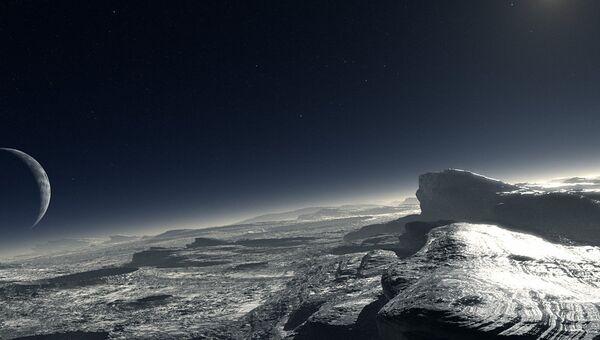 Художественное изображение поверхности Плутона