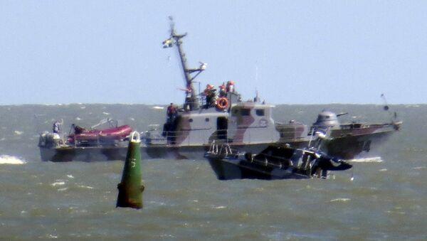 Катер государственной пограничной службы Украины натолкнулся на взрывное устройство