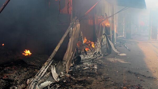 Последствия обстрела города Донецка. Архивное фото
