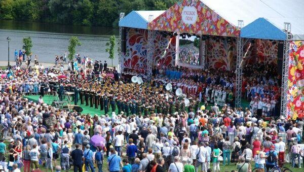 Межрегиональный фестиваль славянского искусства Русское поле . Архивное фото