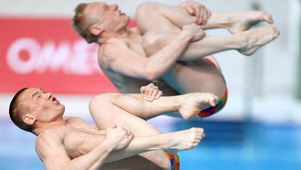 Прыжки в воду. Евгений Кузнецов и Илья Захаров. Архивное фото