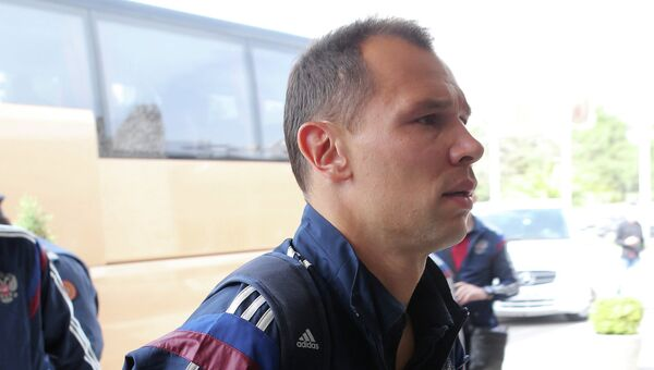 Игрок сборной России по футболу Сергей Игнашевич. Архивное фото
