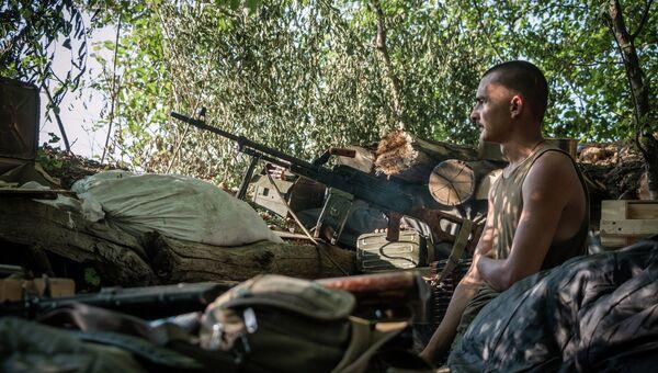 Позиции ополчения под поселком Марьинка в Донецкой области. Архивное фото