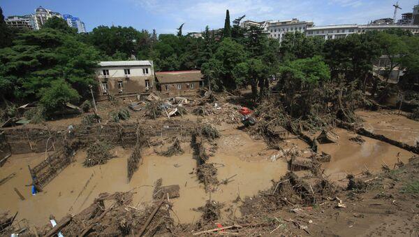 Последствия наводнения в Тбилиси. Архивное фото