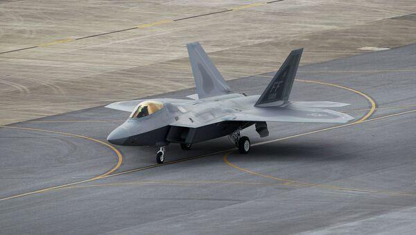 Истребитель ВВС США F-22 Raptor, архивное фото