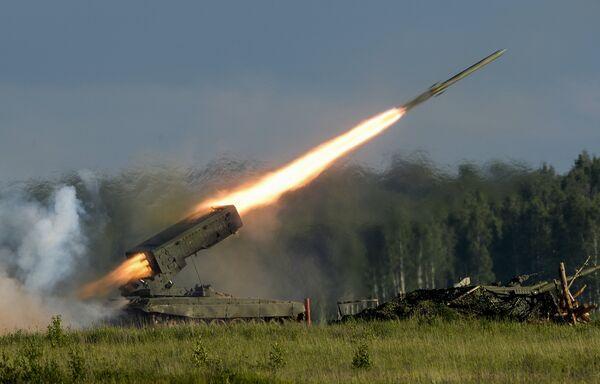 Пуск ракеты во время демонстрационной программы Международного военно-технического форума Армия-2015