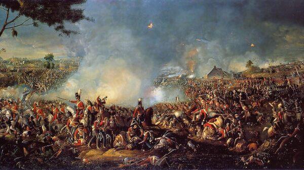 Картина «Битва при Ватерлоо». Вильям Сэдлер