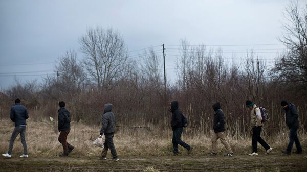 Мигранты недалеко от от Белграда, Сербия