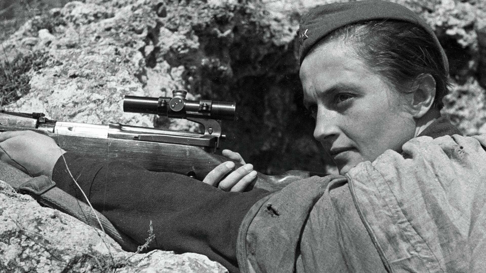 Снайпер Людмила Павличенко - РИА Новости, 1920, 17.10.2020