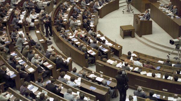3 июня 1989 года на заседании Совета Союза председателем палаты избран академик Академии наук СССР Евгений Максимович Примаков