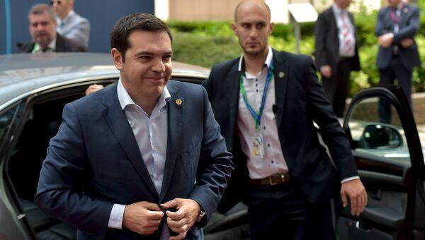 Премьер-министр Греции Алексис Ципрас в Брюсселе. 26 июня 2015