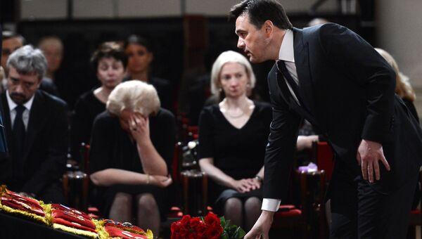 Церемония прощания с политиком Евгением Примаковым
