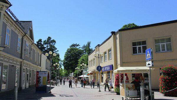 Вид на главную улицу Юрмалы. Архивное фото