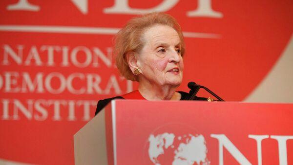 Глава Национального демократического института США , экс-госсекретарь США Мадлен Олбрайт. Архивное фото