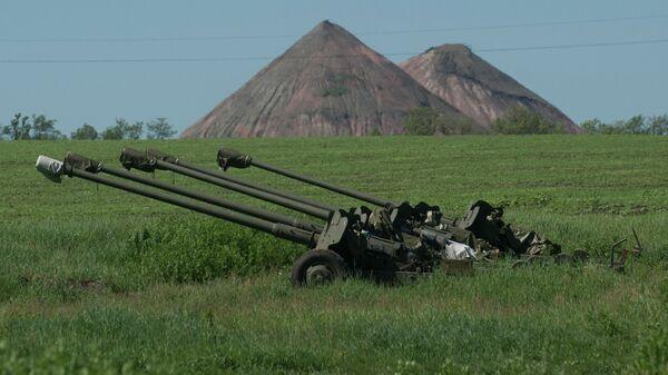 Украинская артиллерия на позиции. Архивное фото