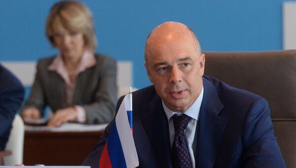 Министр финансов Российской Федерации Антон Силуанов на встрече министров финансов и управляющих центральными банками стран БРИКС