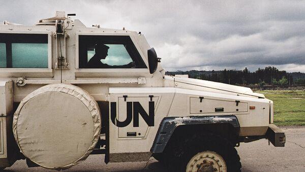 Машина миротворцев ООН. Архивное фото